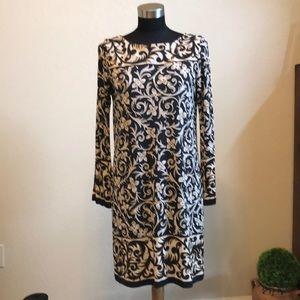 Nicole Miller 100% Silk Shift Dress Medium